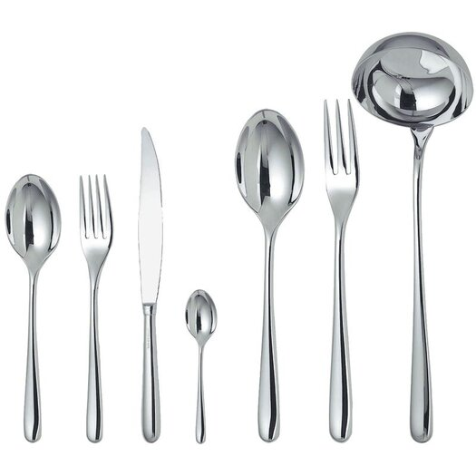 Alessi Caccia by Luigi Caccia Dominioni 4 Pronged Fork 75 Piece Flatware Set