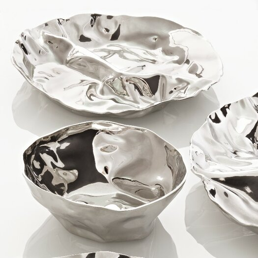 Alessi Lluis Clotet - Wrinkled Inspirations Pepa Hors-D'Oeuvre Chip and Dip Tray