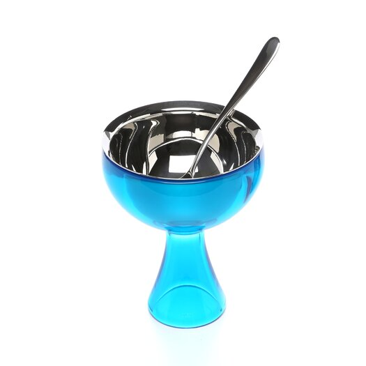 Alessi Miriam Mirri 8.45 oz. Big Love Ice Cream Bowl and Spoon