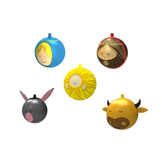 Alessi 5 Piece Holiday Ornament Set
