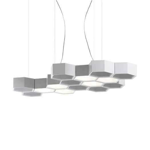 Luceplan Honeycomb 3 Light LED Suspension Lamp- Suspension Only