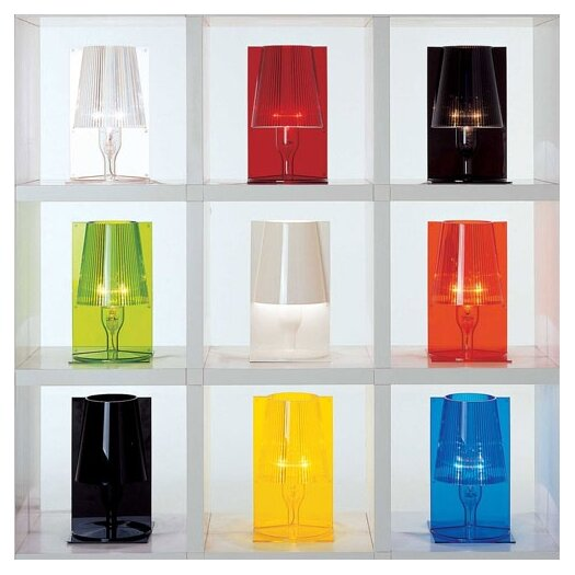 "Kartell Take 12"" H Table Lamp with Empire Shade"
