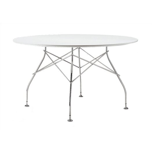 "Kartell Glossy Round 51""D Utility Table"