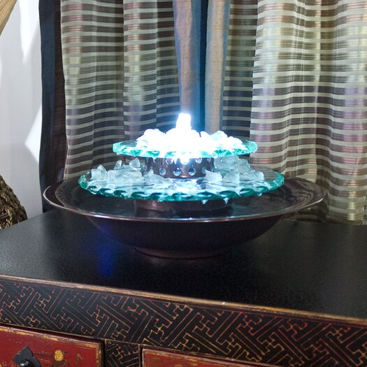 Bluworld Moonlight Glass Tabletop Fountain