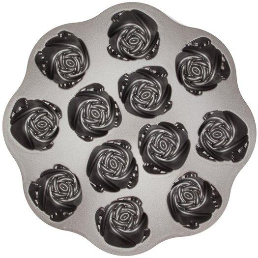 Nordic Ware Platinum Sweetheart Rose Muffin Pan