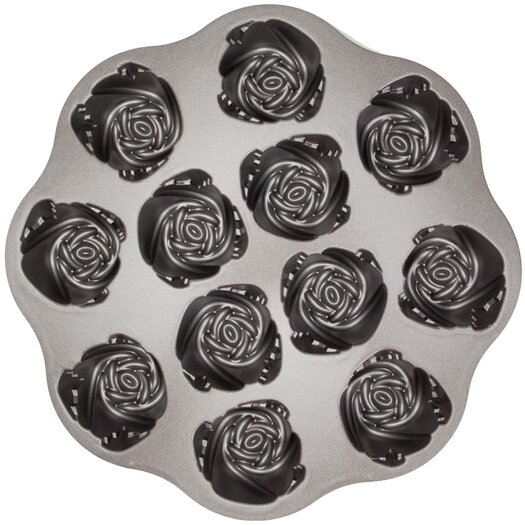 Nordicware Platinum Sweetheart Rose Muffin Pan