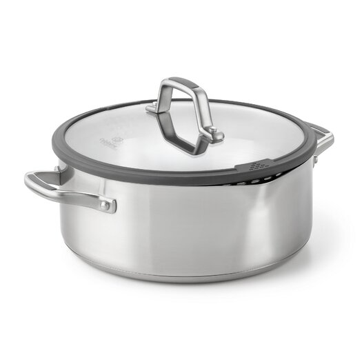 Calphalon Easy System 5-qt. Stainless Steel Round Dutch Oven