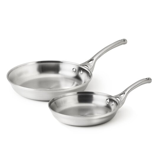 Calphalon Contemporary Stainless Steel 2-Piece Fry Pan Set