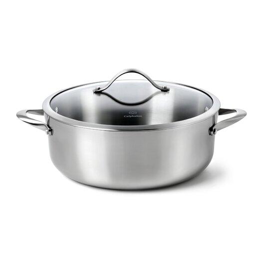 Calphalon Contemporary Stainless Steel 8-qt. Aluminum Round  Dutch Oven
