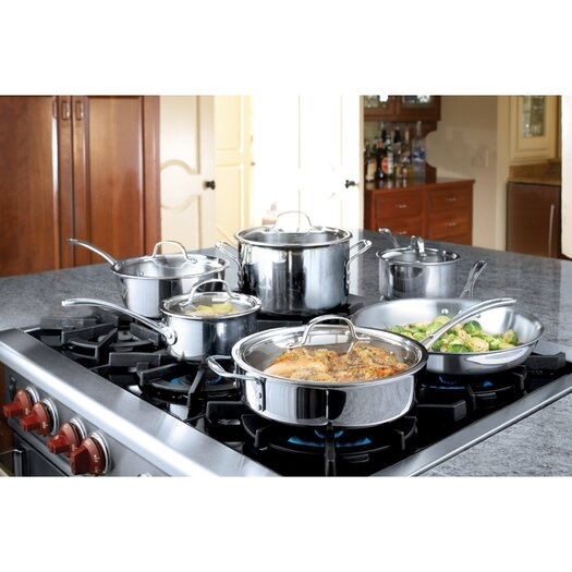 Calphalon Try-Ply Stainless Steel 13 Piece Cookware Set