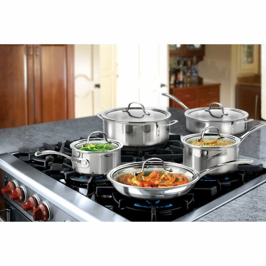 Calphalon Tri-Ply Stainless Steel 10-Piece Cookware Set