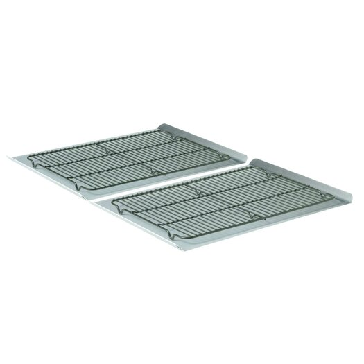 Calphalon 4 Piece Nonstick Large Cookie Sheet and Cooling Rack Set
