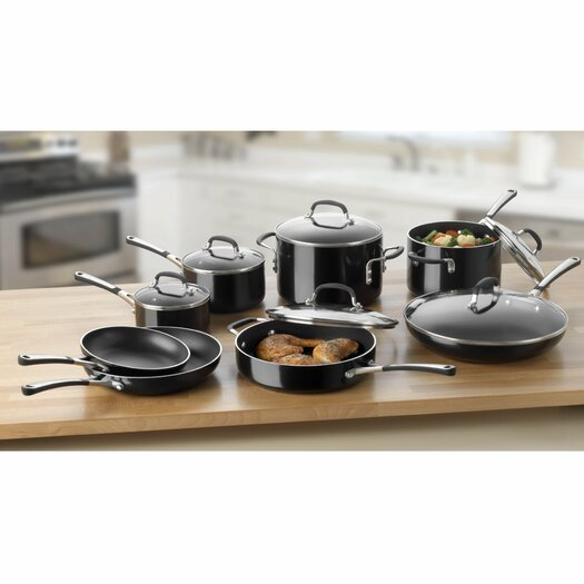 Calphalon Simply Enamel 14 Piece Cookware Set
