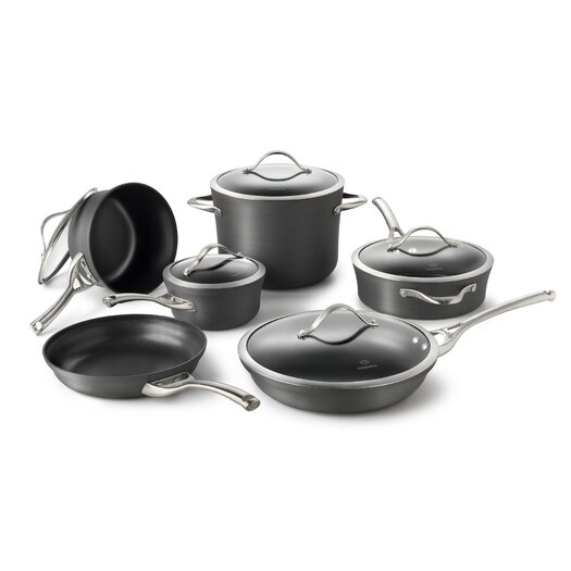 Calphalon Contemporary Hard-Anodized Aluminum 11-Piece Cookware Set