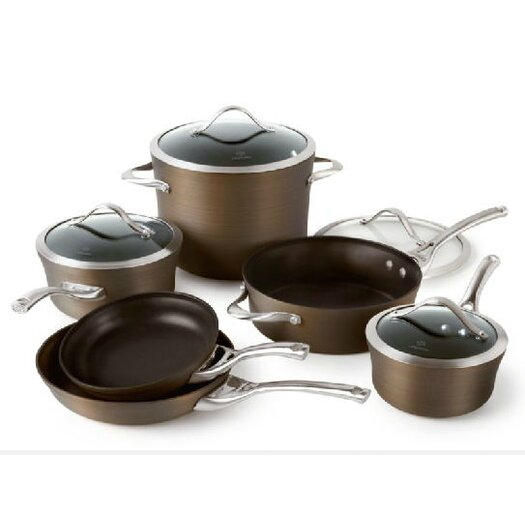Calphalon Contemporary Hard-Anodized Aluminum 10-Piece Cookware Set