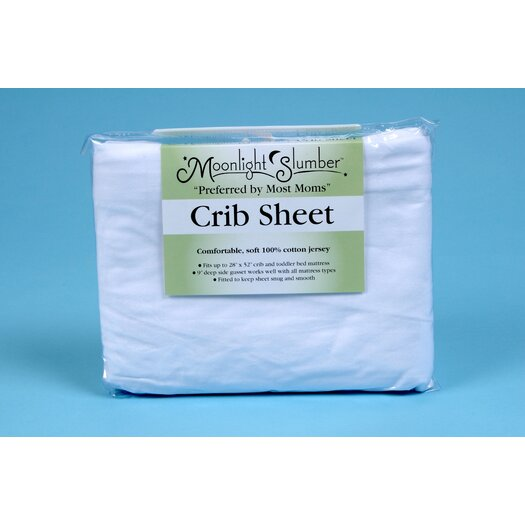 Moonlight Slumber 100% Cotton Fitted Crib Sheet