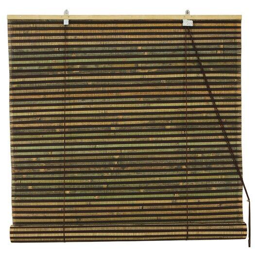 Oriental Furniture Burnt Bamboo Roller Blind