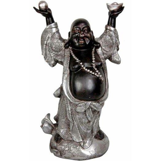 Oriental Furniture Standing Prosperity Buddha Statue