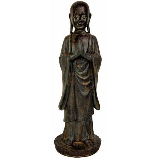 Oriental Furniture Standing Japanese Zen Monk Statue