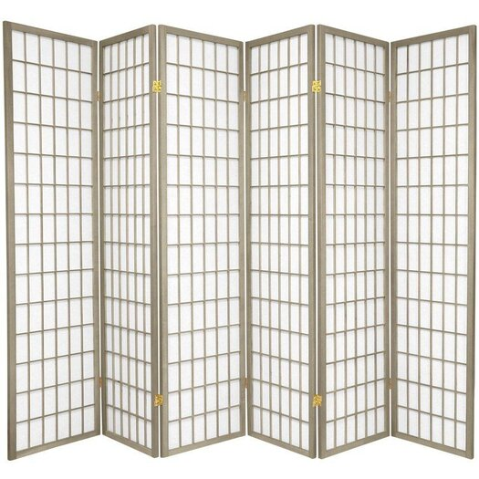 "Oriental Furniture 70"" x 84"" Window Pane 6 Panel Room Divider"