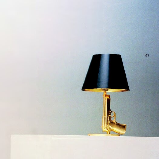 """FLOS Gun Bedside 16.8"""" H Table Lamp with Empire Shade"""