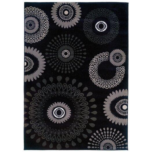 LR Resources Adana Kaleidoscopic Charcoal Area Rug