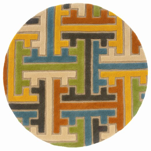 LR Resources Vibrance Geometric Puzzle Rug