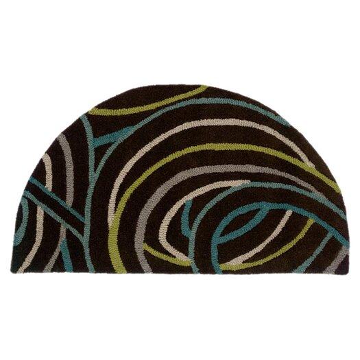 LR Resources Vibrance Miami Black Swirls Rug