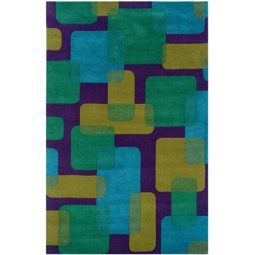 LR Resources Vibrance Purple Geometric Rug