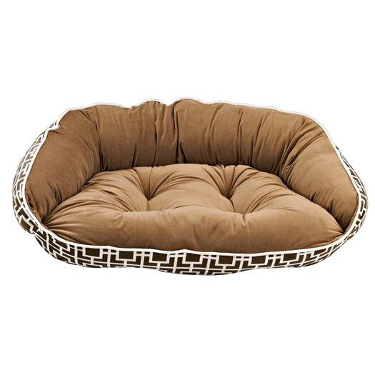 Bowsers Diam Microvelvet Crescent Bolster Dog Bed