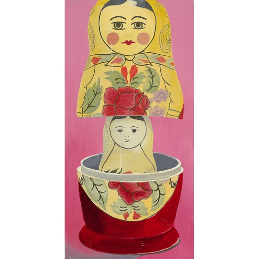 emma at home by Emma Gardner Matryoshka Mother Daughter Giclee Painting Print on Canvas