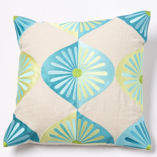 emma at home by Emma Gardner Royal Fans Linen Pillow