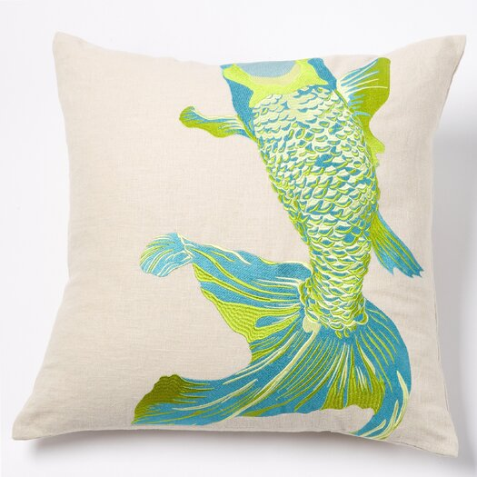 emma at home by Emma Gardner Whole Baby Fish Linen Pillow