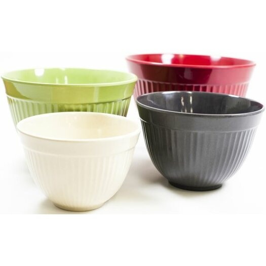 Natural Home Stacking Ribbed Mixing Bowl