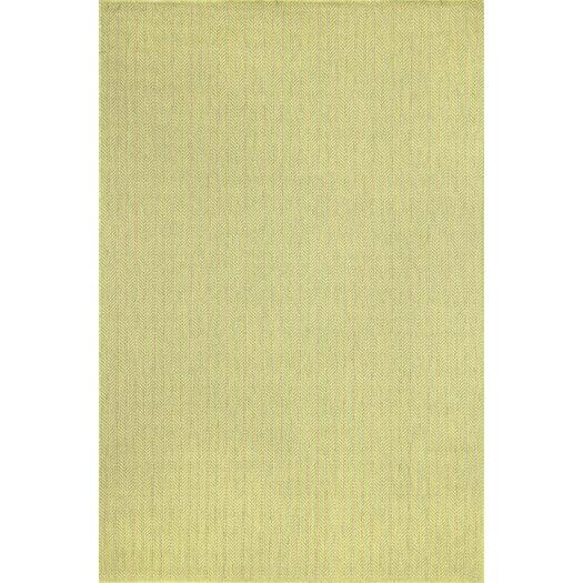 Liora Manne Monterey Green Texture Stripe Indoor/Outdoor Rug