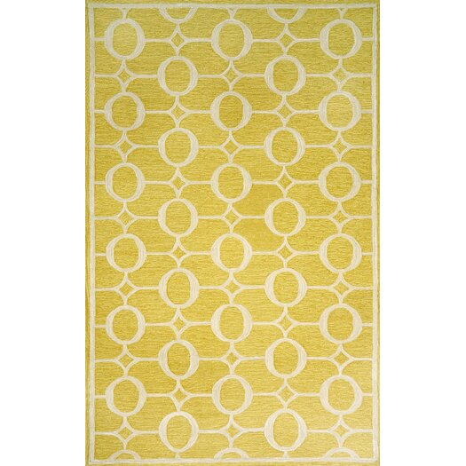 Liora Manne Spello Arabesque Yellow Outdoor Area Rug