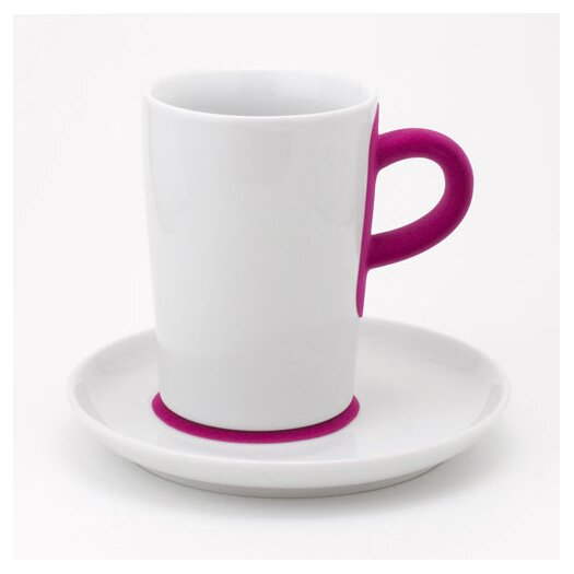 KAHLA Five Senses Touch! 12 oz. Macchiato Cup with Saucer