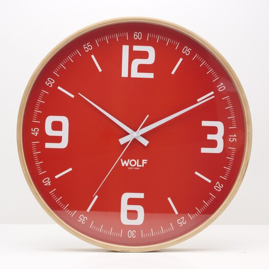 "WOLF Moderne 21"" Wall Clock"