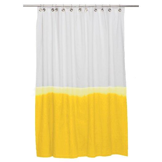 Nine Space Dip Dye Cotton Shower Curtain
