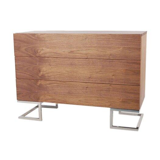 Pangea Home Hunter 3 Drawer Dresser