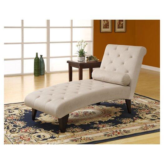 Monarch Specialties Inc. Velvet Chaise Lounge