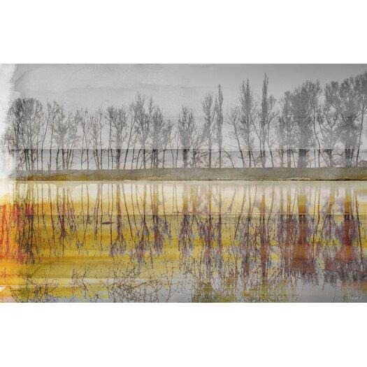 Sunset Lake Painting Print on Canvas