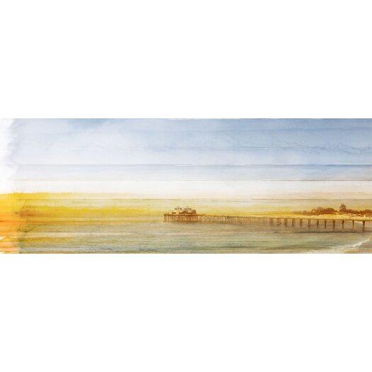 Malibu Pier Painting Print on Canvas