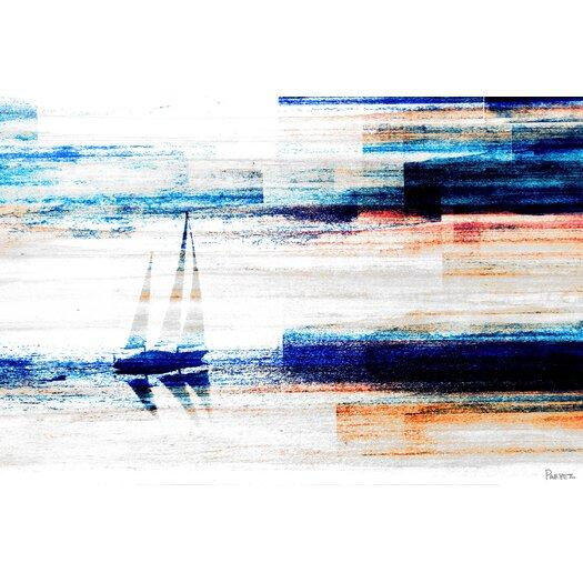 Aegean Sea Painting Print on Canvas