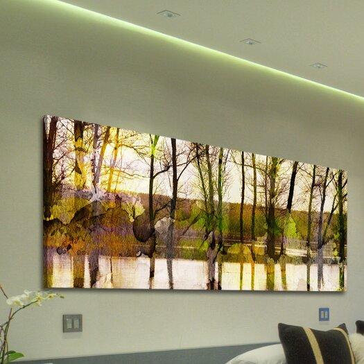 Parvez Taj Lake Trees - Art Print on Premium Canvas