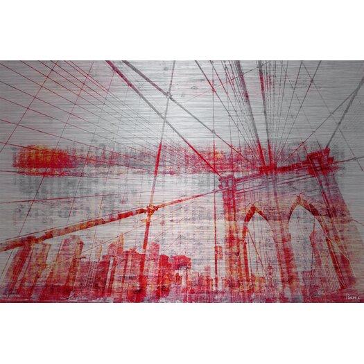 Brooklyn Bridge - Art Print on Brushed Aluminum