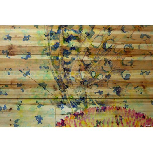 Butterfly - Art Print on Natural Pine Wood