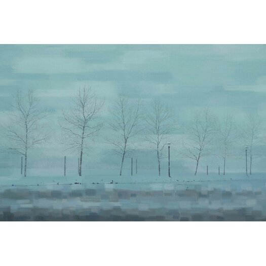 Snowy Forest Graphic Art on Wrapped Canvas