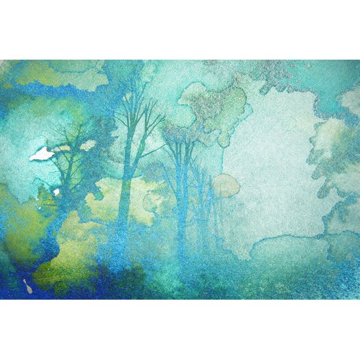 Watermark Forest Graphic Art on Wrapped Canvas