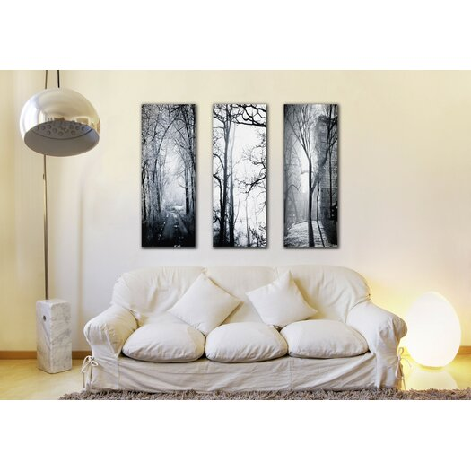 Parvez Taj Snow Emerald Triptych - Art Print on Premium Canvas